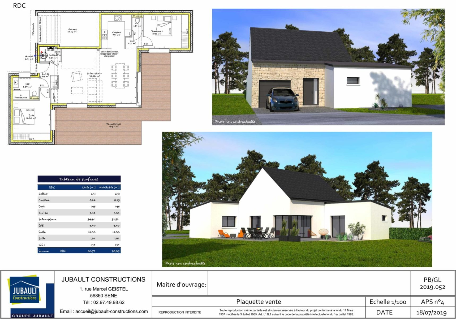 Jubault Constructions Morbihan Constructeur Morbihan Maison PP La Trinité Sur Mer 1088