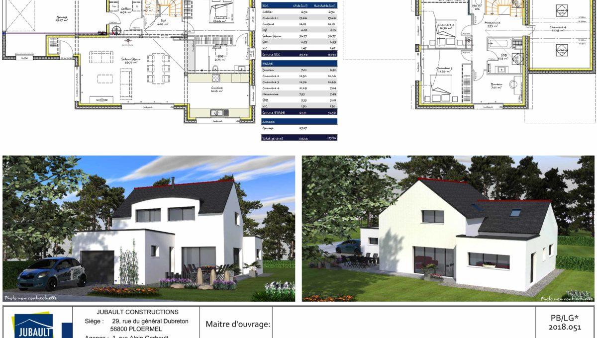 Jubault Constructions Morbihan Constructeur Morbihan Maison Ploemeur 1030