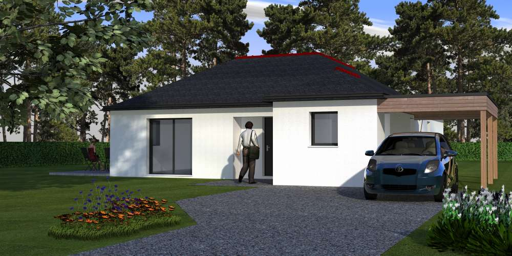 CONTEMPORAINE PLAIN PIED AVEC CARPORT PLOERMEL