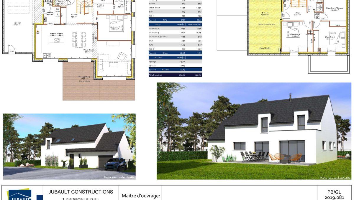 Jubault Constructions Morbihan Constructeur Morbihan Plan Brech 1078