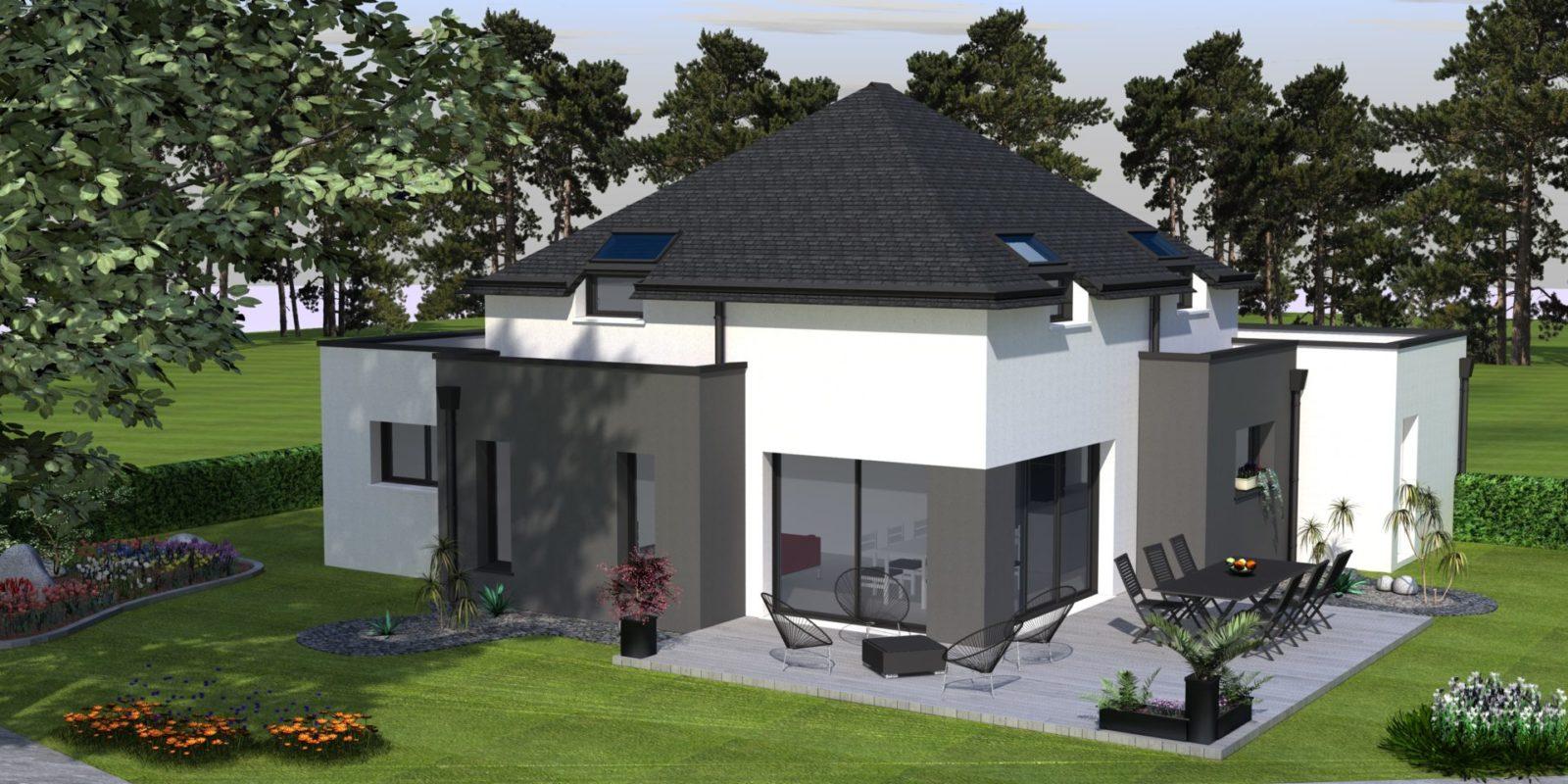 Maison toiture 4 pans – AMBON